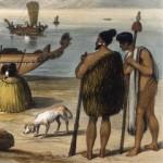 ChiefsWithKuri1828-El Kurī es el nombre maorí para el perro polinesio