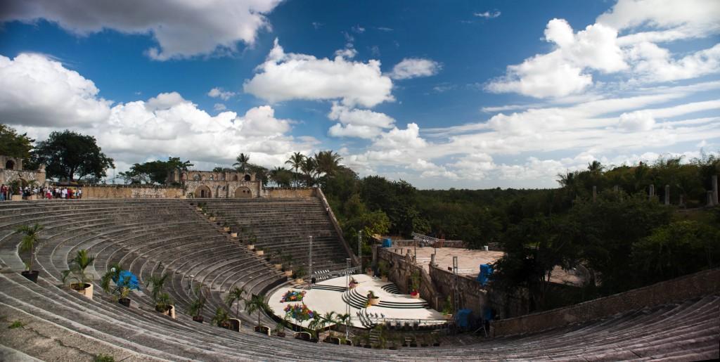 Amphitheater in Altos de Chavón, La Romana, Dominican Republic.