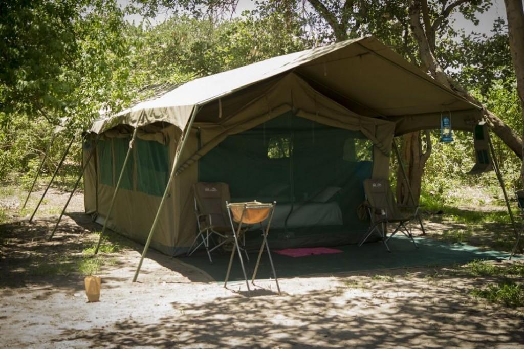 campamento movil en safari