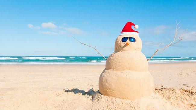 feliz navidad playa