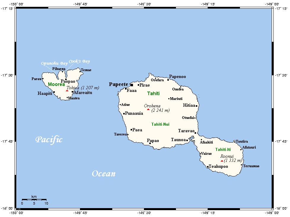 mapa de tahiti i moorea
