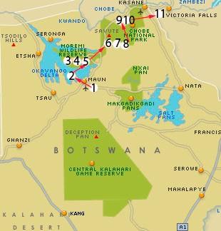 recorriendo el norte de botswana