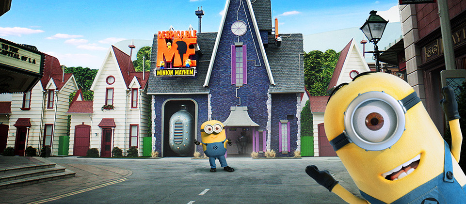 minions disfrutar en hollywood