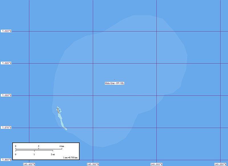 Carte du motu One Mapa