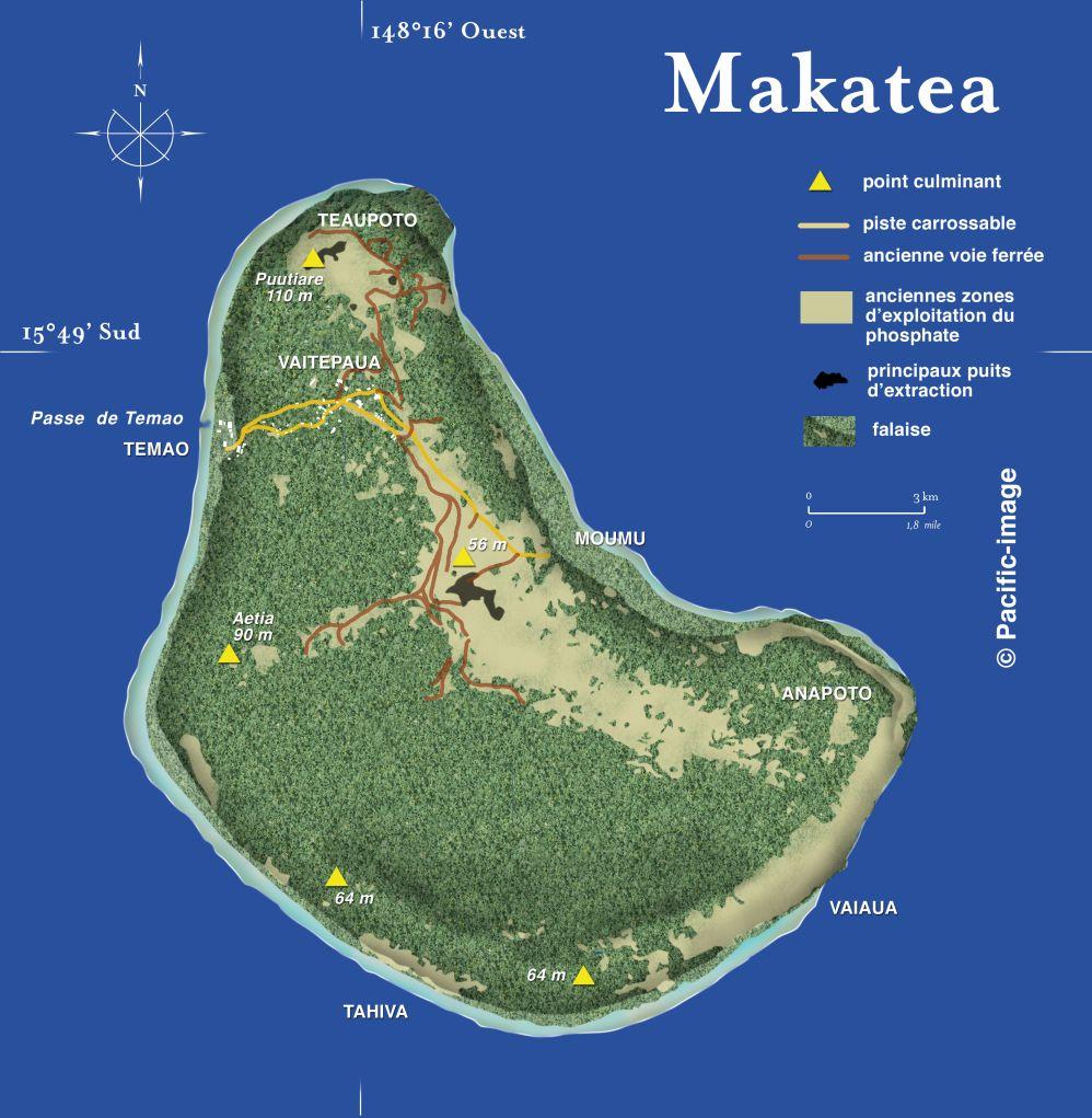 Makatea mapa